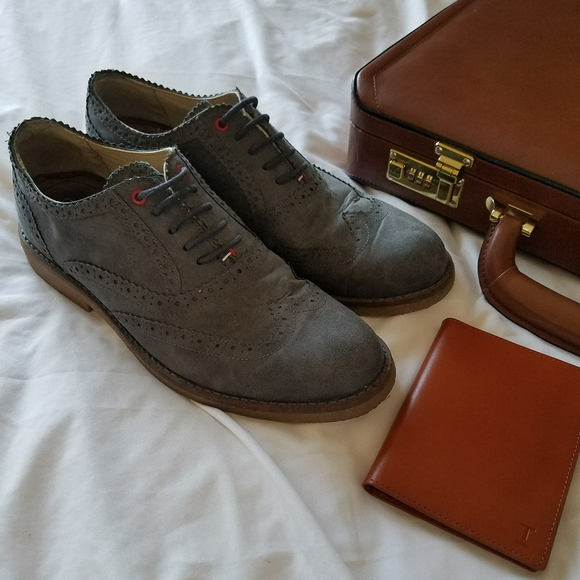 Tommy Hilfiger Blue Suede Shoes Mens